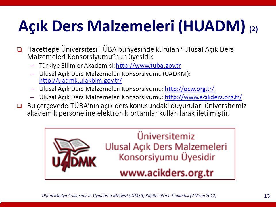 Açık Ders Malzemeleri (HUADM) (2)
