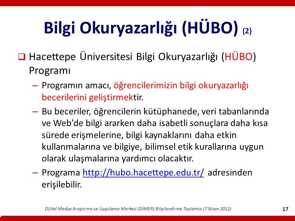 Bilgi Okuryazarlığı (HÜBO) (2)
