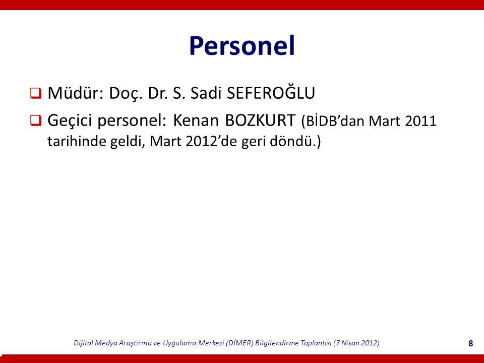 Personel Müdür: Doç. Dr. S. Sadi SEFEROĞLU