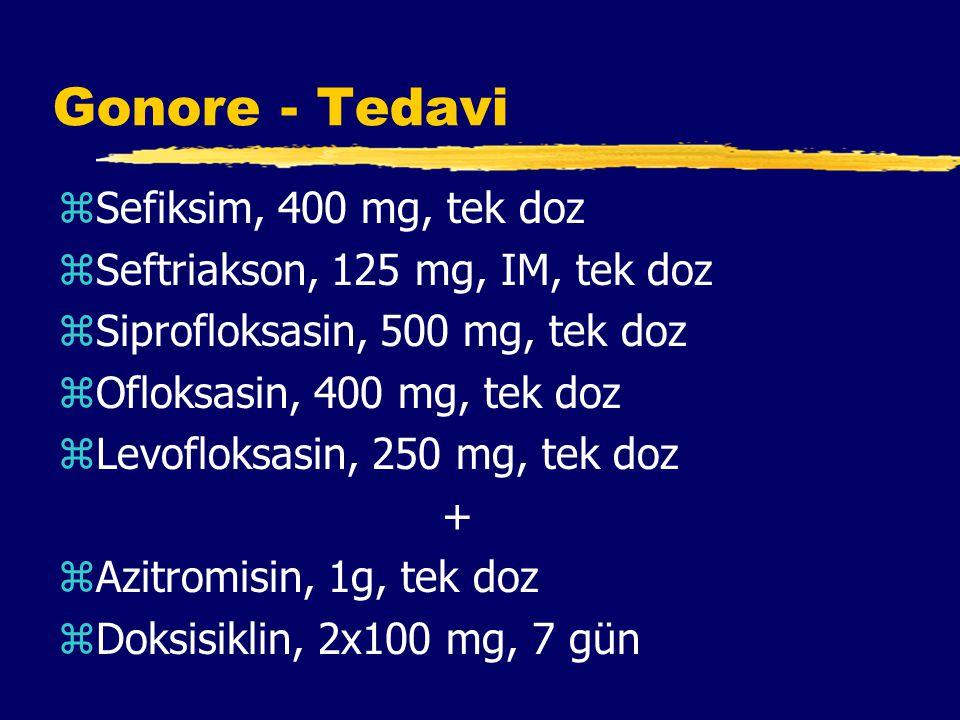 Gonore - Tedavi Sefiksim, 400 mg, tek doz