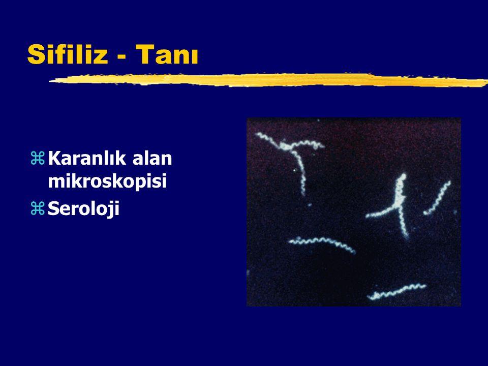 Sifiliz - Tanı Karanlık alan mikroskopisi Seroloji