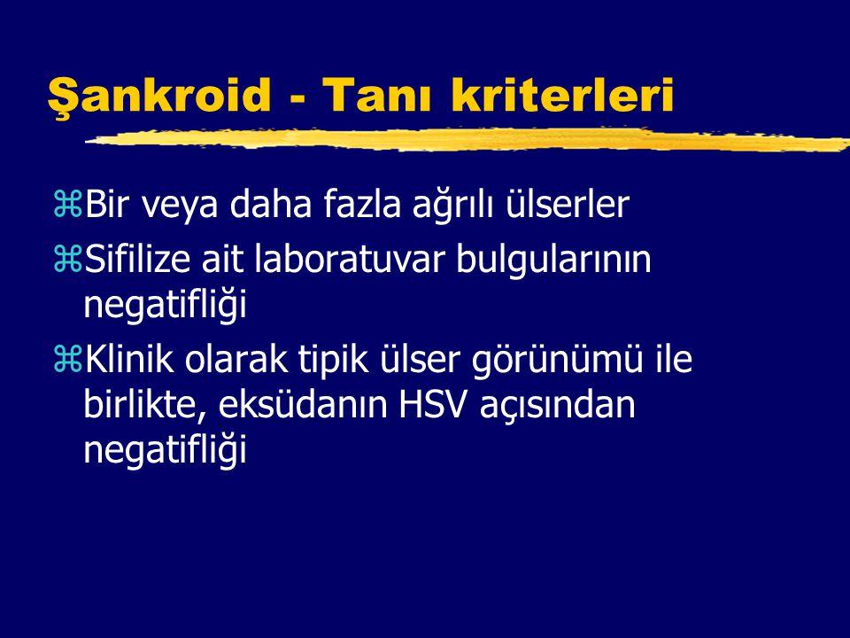 Şankroid - Tanı kriterleri