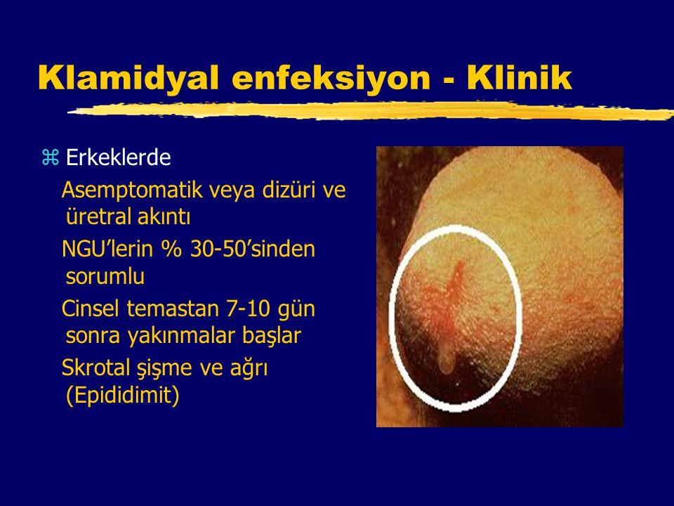 Klamidyal enfeksiyon - Klinik