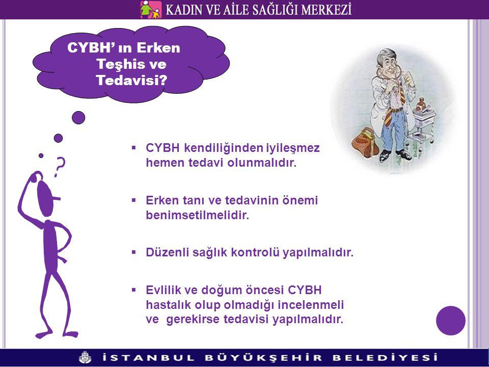 CYBH' ın Erken Teşhis ve Tedavisi