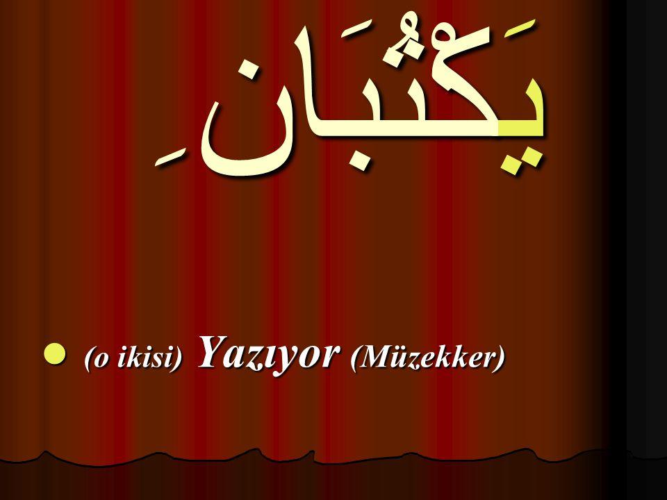 يَكْتُبَان ِ (o ikisi) Yazıyor (Müzekker)