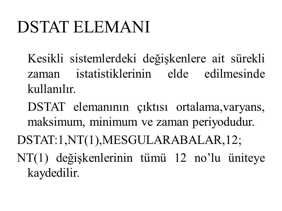 DSTAT ELEMANI