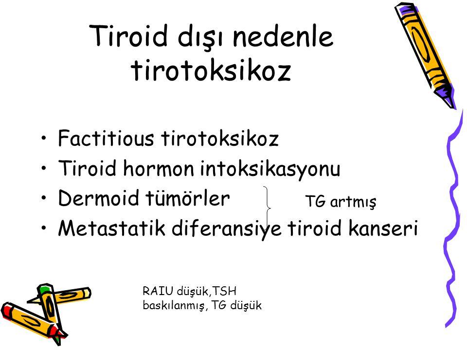 Tiroid dışı nedenle tirotoksikoz