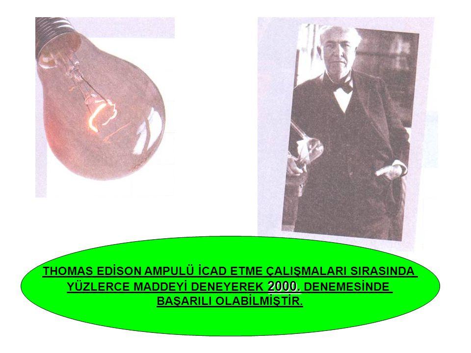 THOMAS EDİSON AMPULÜ İCAD ETME ÇALIŞMALARI SIRASINDA