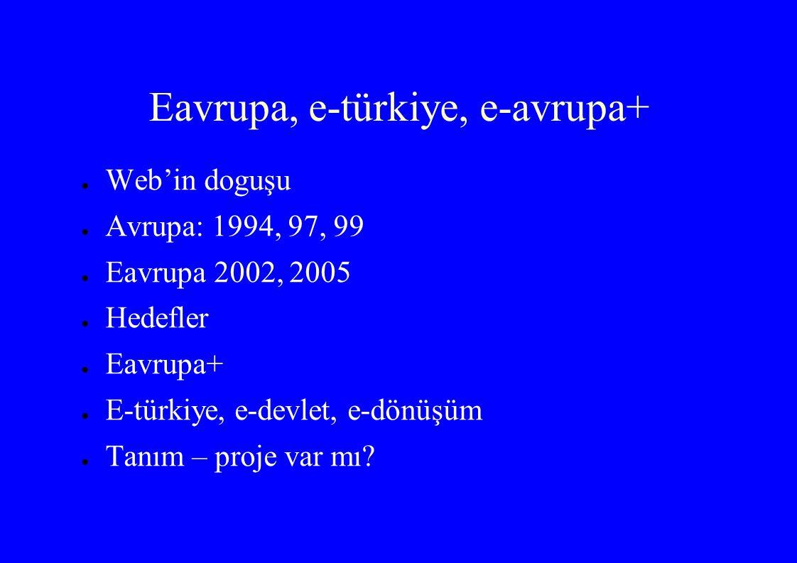 Eavrupa, e-türkiye, e-avrupa+