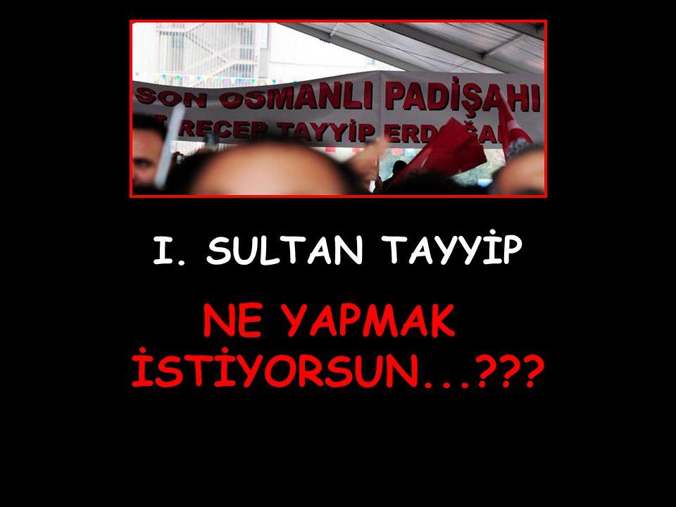 I. SULTAN TAYYİP NE YAPMAK İSTİYORSUN...