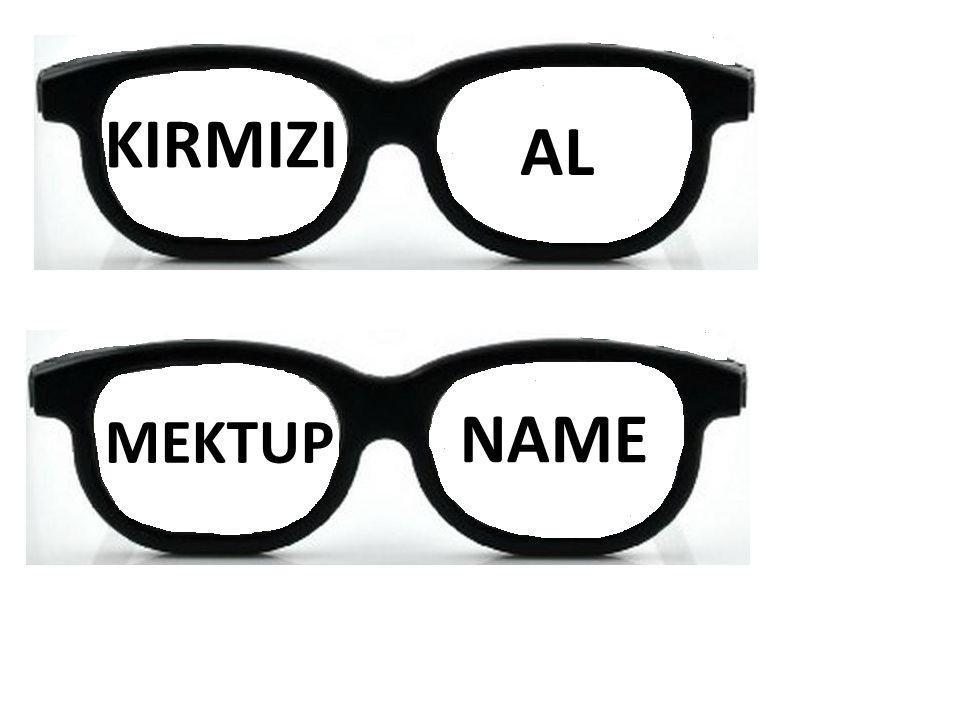 KIRMIZI AL NAME MEKTUP