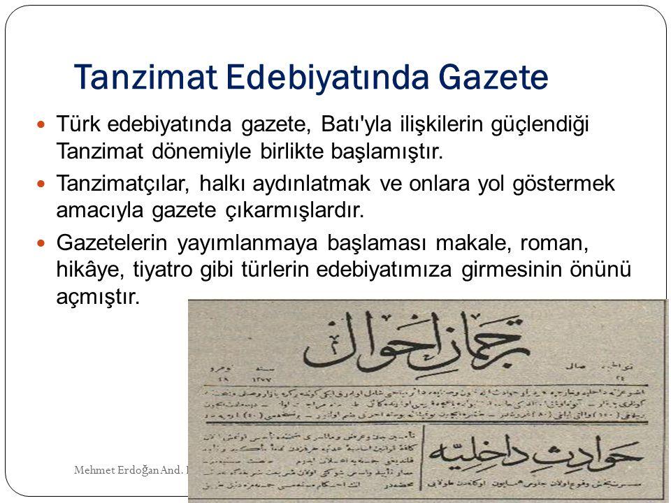 Tanzimat Edebiyatında Gazete