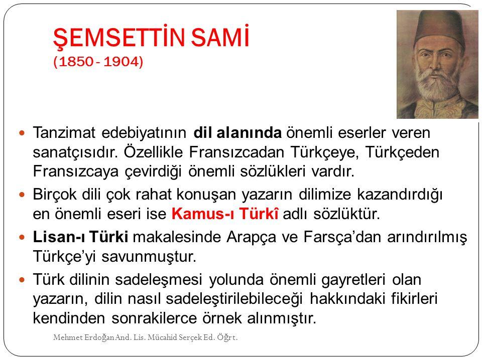 ŞEMSETTİN SAMİ (1850 - 1904)