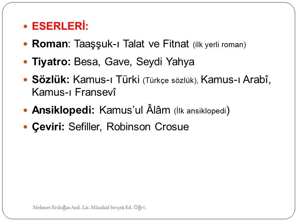 Roman: Taaşşuk-ı Talat ve Fitnat (ilk yerli roman)
