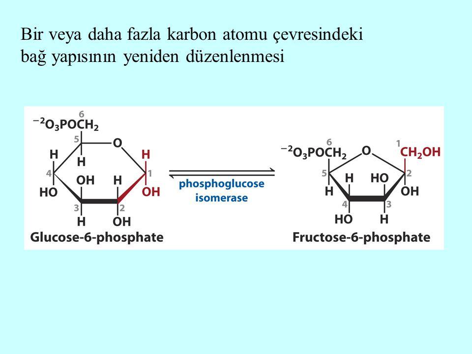 Bir veya daha fazla karbon atomu çevresindeki bağ yapısının yeniden düzenlenmesi
