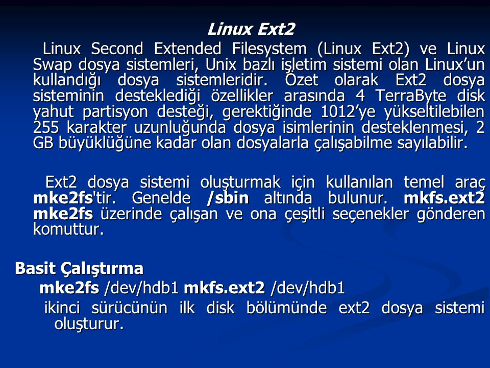 Linux Ext2