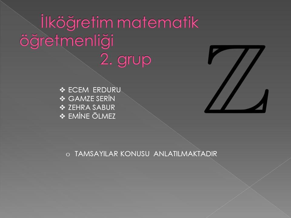 İlköğretim matematik öğretmenliği 2. grup