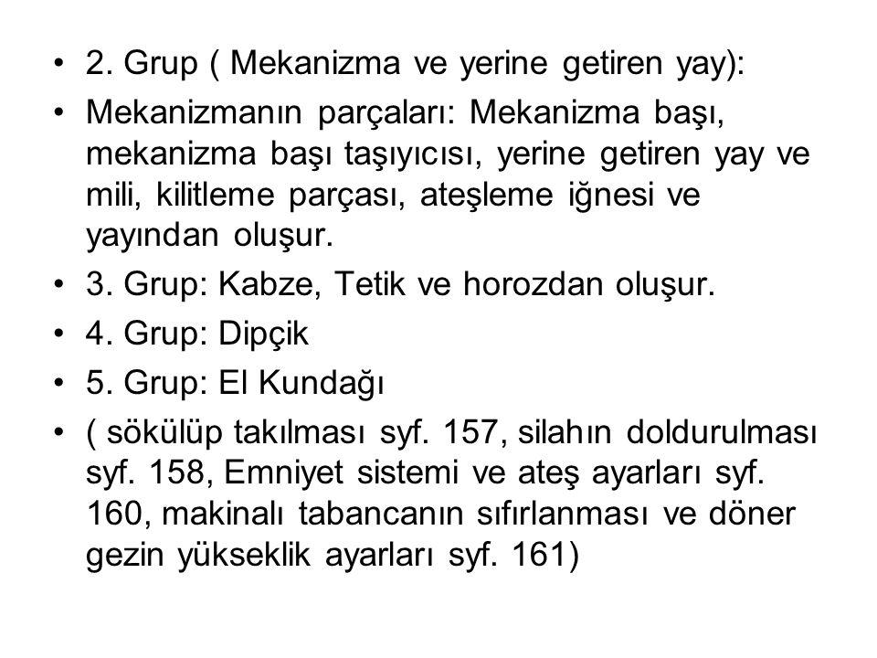 2. Grup ( Mekanizma ve yerine getiren yay):