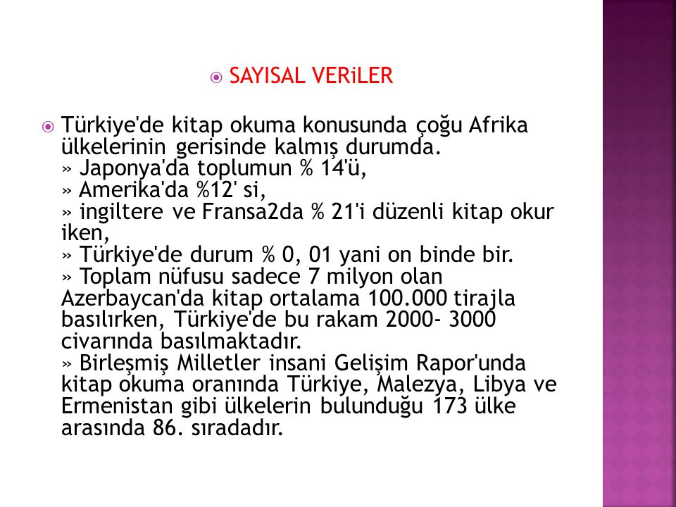 SAYISAL VERiLER