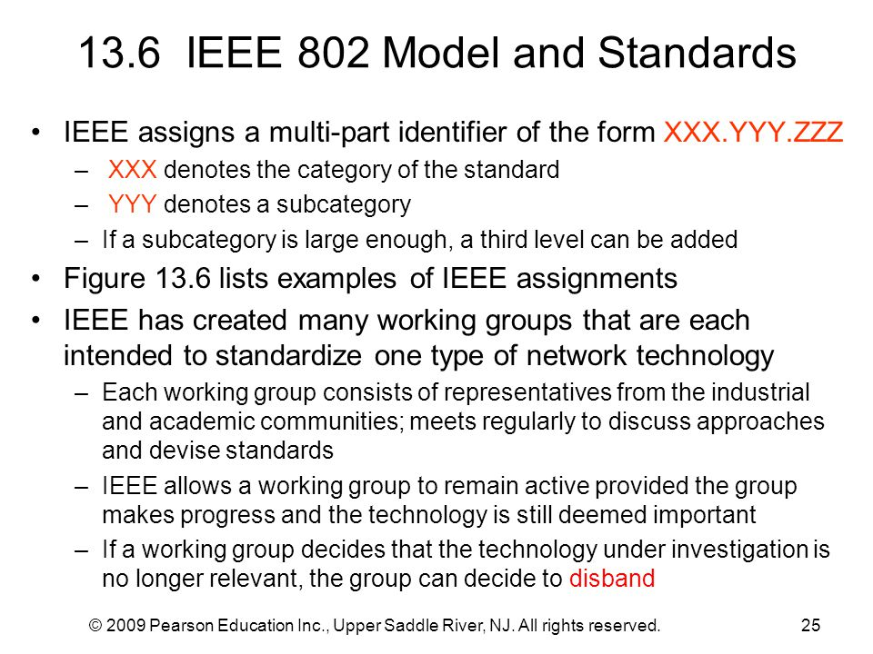 13.6 IEEE 802 Model and Standards