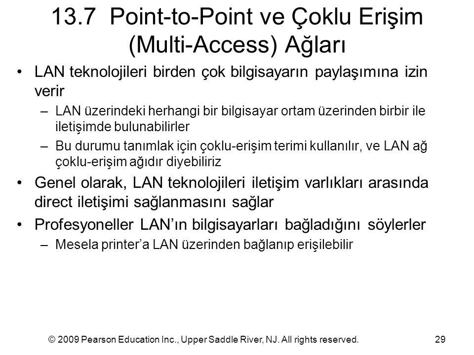 13.7 Point-to-Point ve Çoklu Erişim (Multi-Access) Ağları