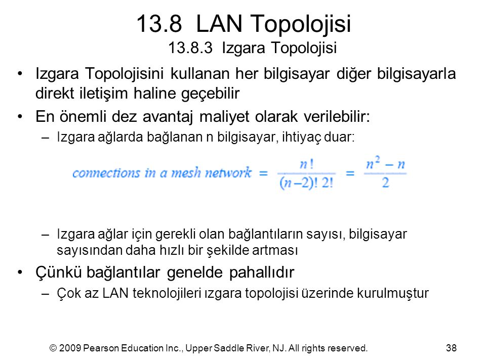 13.8 LAN Topolojisi 13.8.3 Izgara Topolojisi