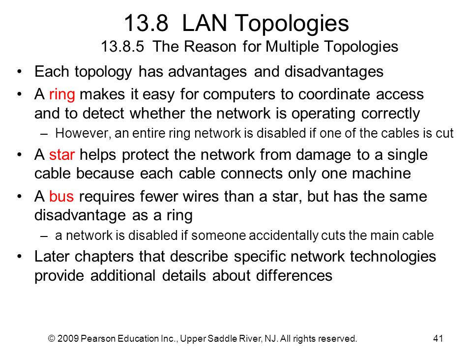 13.8 LAN Topologies 13.8.5 The Reason for Multiple Topologies