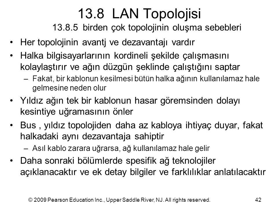 13.8 LAN Topolojisi 13.8.5 birden çok topolojinin oluşma sebebleri