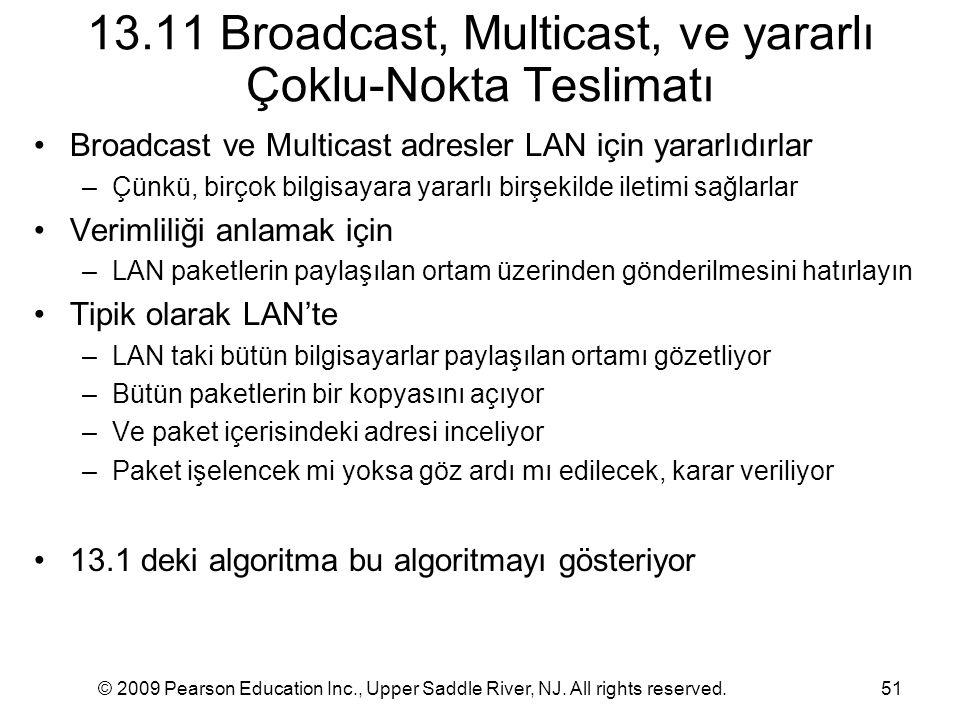 13.11 Broadcast, Multicast, ve yararlı Çoklu-Nokta Teslimatı