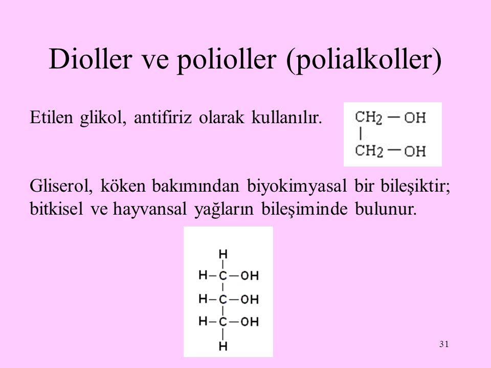 Dioller ve polioller (polialkoller)