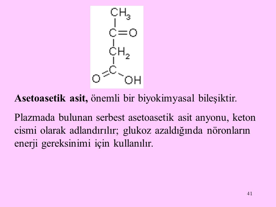 Asetoasetik asit, önemli bir biyokimyasal bileşiktir.