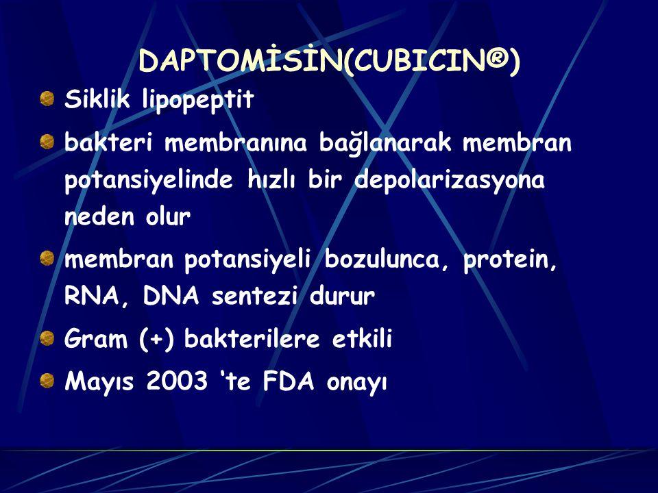 DAPTOMİSİN(CUBICIN®)