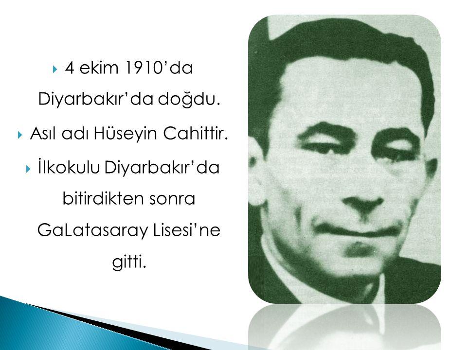4 ekim 1910'da Diyarbakır'da doğdu.