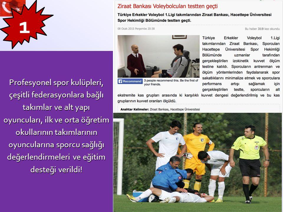 1 Profesyonel spor kulüpleri, çeşitli federasyonlara bağlı
