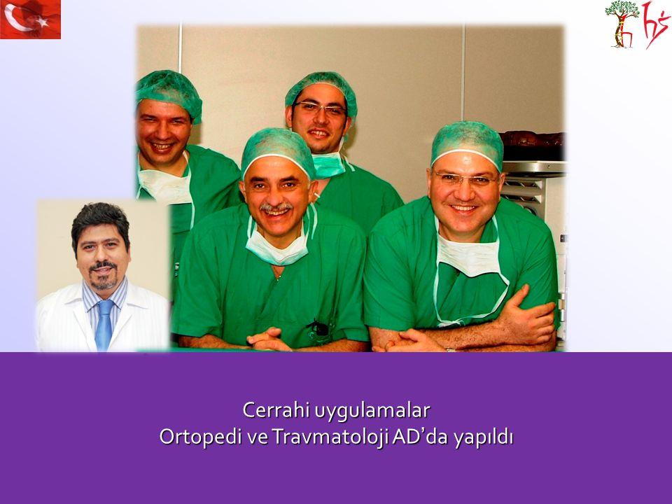 Ortopedi ve Travmatoloji AD'da yapıldı