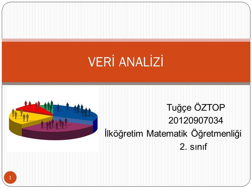 Tuğçe ÖZTOP 20120907034 İlköğretim Matematik Öğretmenliği 2. sınıf