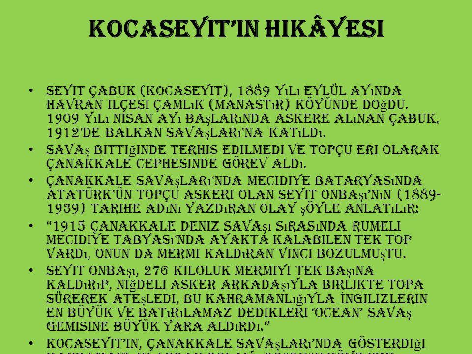 Kocaseyit'in hikâyesi