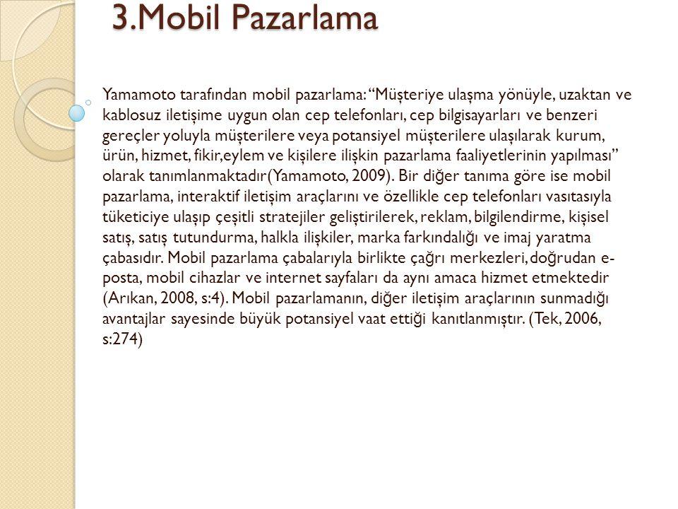3.Mobil Pazarlama