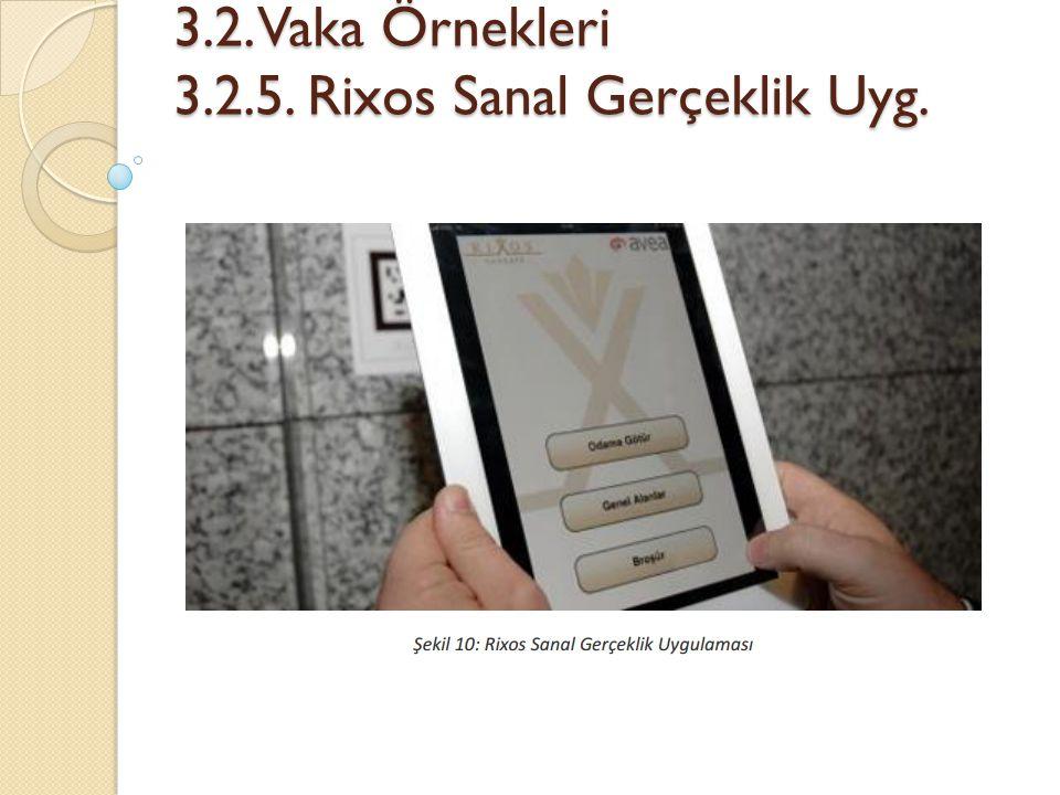 3.2. Vaka Örnekleri 3.2.5. Rixos Sanal Gerçeklik Uyg.