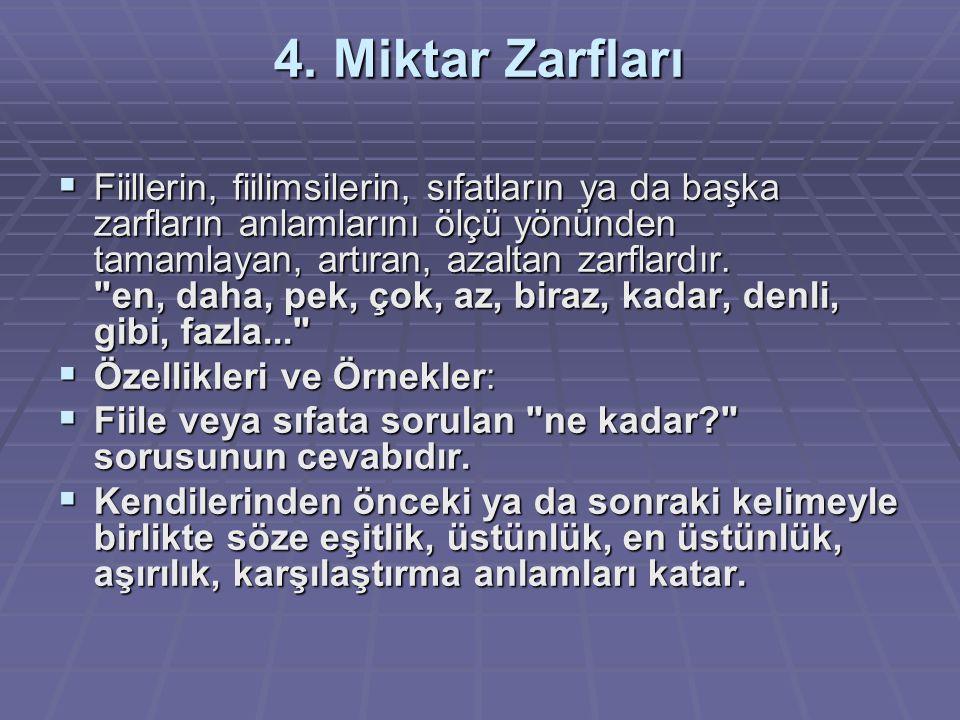 4. Miktar Zarfları