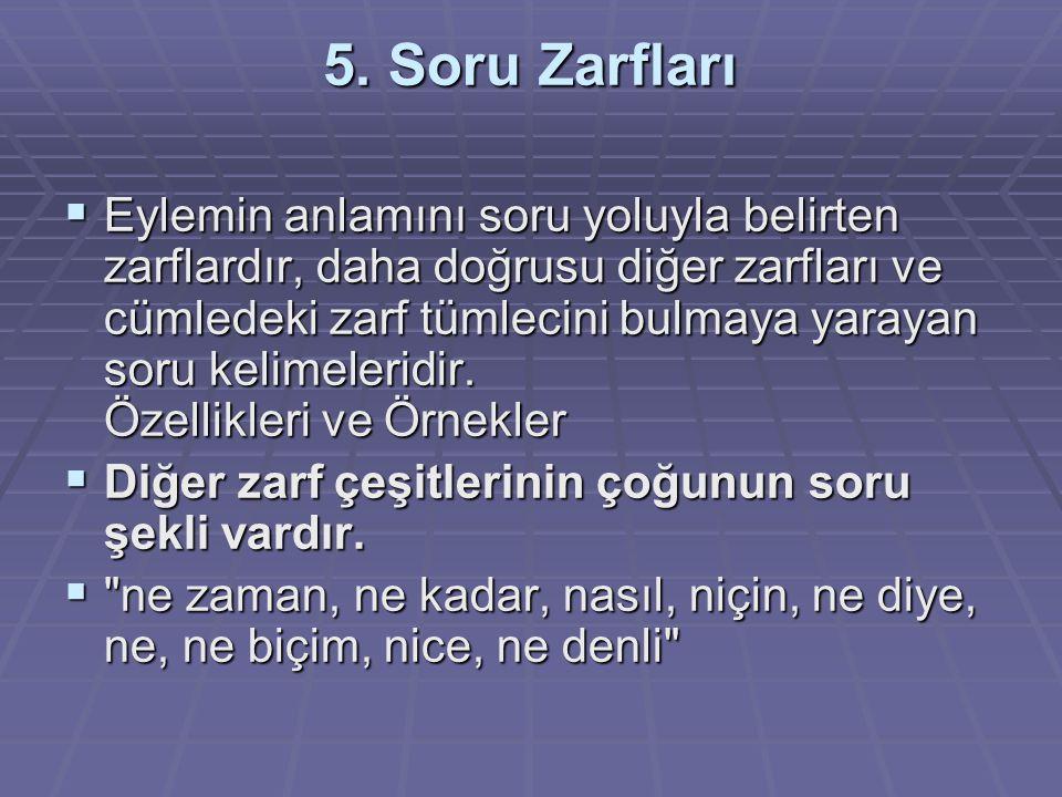 5. Soru Zarfları