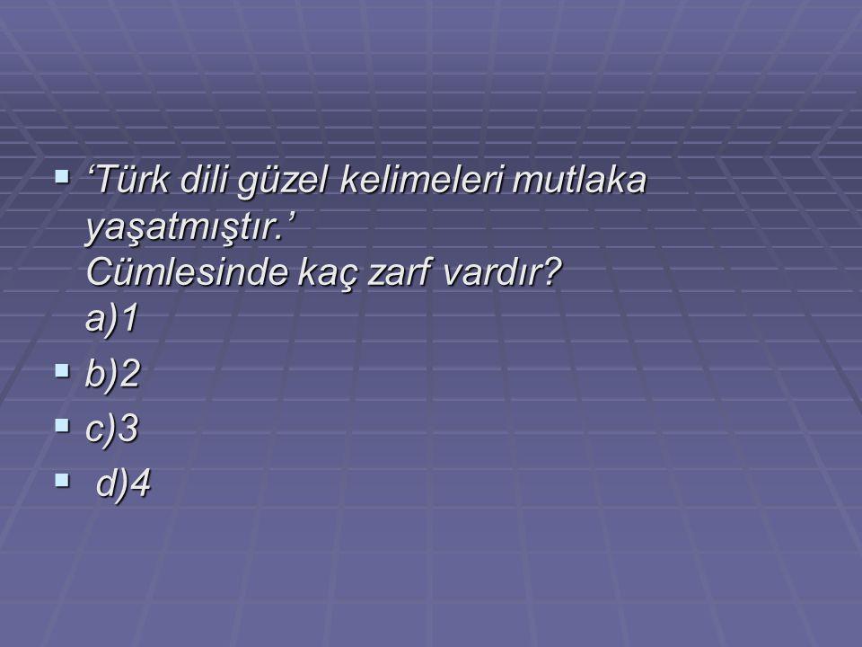 'Türk dili güzel kelimeleri mutlaka yaşatmıştır