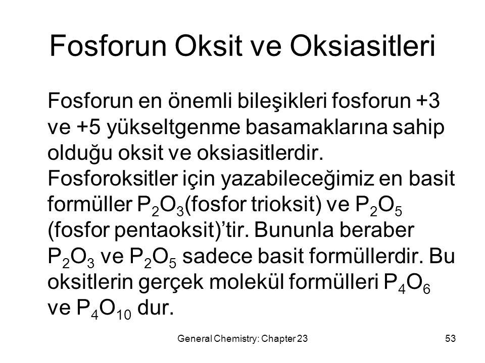 Fosforun Oksit ve Oksiasitleri
