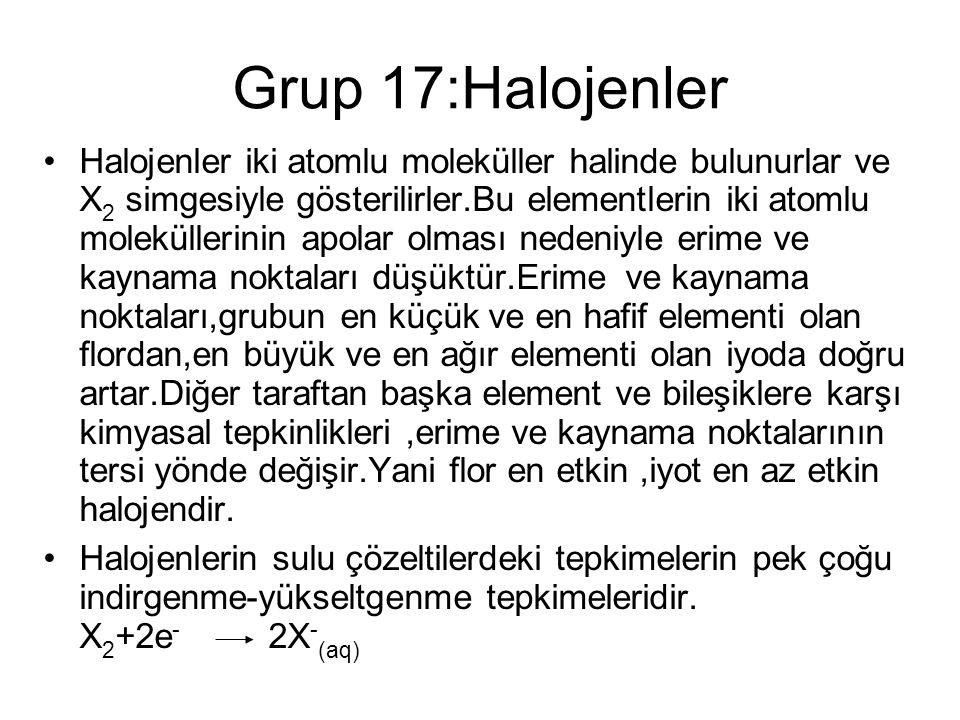 Chemistry 140 Fall 2002 Grup 17:Halojenler.