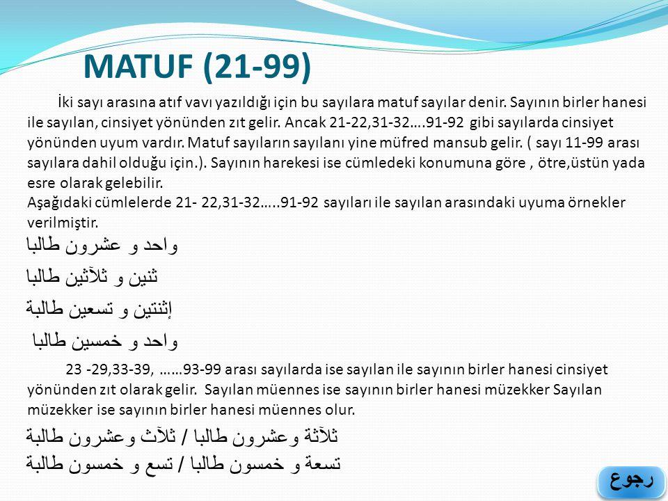 MATUF (21-99) ﺛﻧﻴﻦ ﻮ ﺛﻶﺛﻳﻥ ﻃﺎﻟﺒﺎ ﺇﺛﻧﺘﻳﻦ ﻮ ﺘﺴﻌﻳﻦ ﻃﺎﻟﺒﺔ