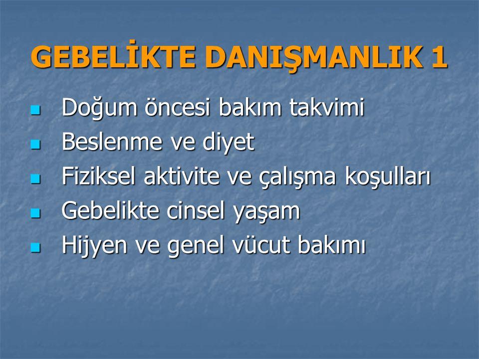 GEBELİKTE DANIŞMANLIK 1