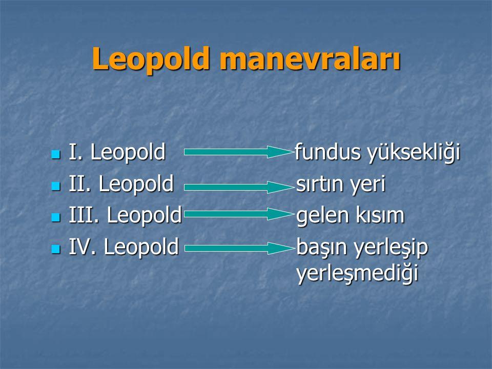 Leopold manevraları I. Leopold fundus yüksekliği