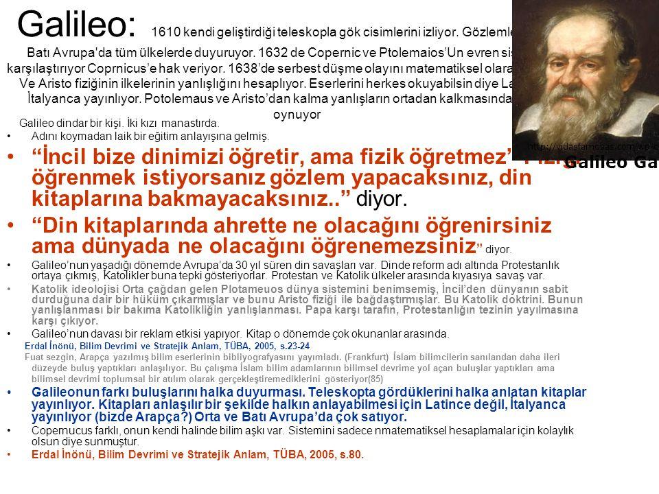 Galileo: 1610 kendi geliştirdiği teleskopla gök cisimlerini izliyor