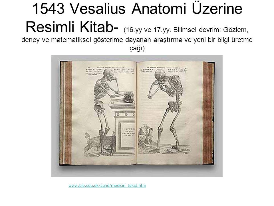 1543 Vesalius Anatomi Üzerine Resimli Kitab- (16. yy ve 17. yy