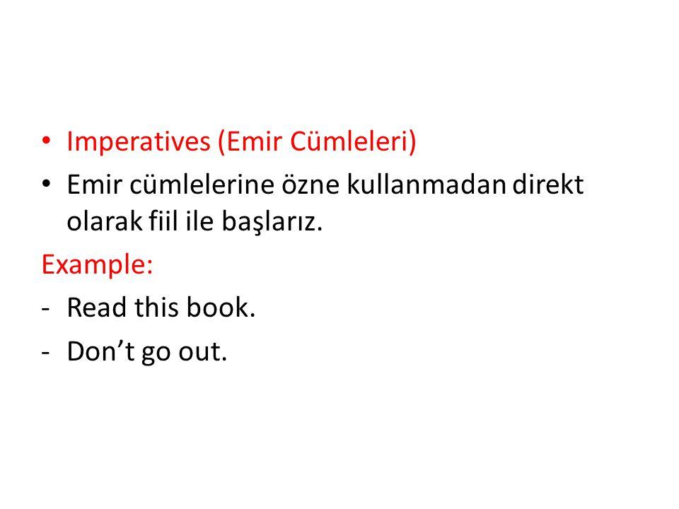 Imperatives (Emir Cümleleri)